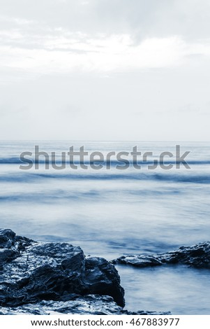 Stormy Beach with copy space ideal for book cover