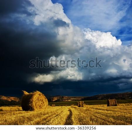 Stormy cloud bale - stock photo