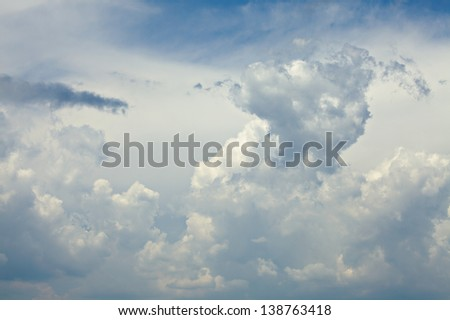 Stormy clouds in the sky - stock photo