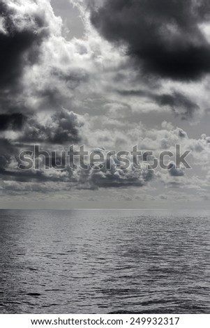 Stormy clouds over the Atlantic Ocean in Tenerife, Canary Islands, Spain