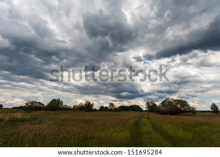 Stormy cloudscape - stock photo