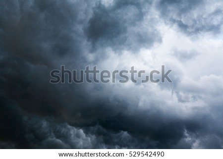 Stormy cloudscape background with dark and bright part