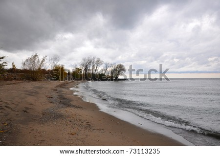 stormy coastline - stock photo