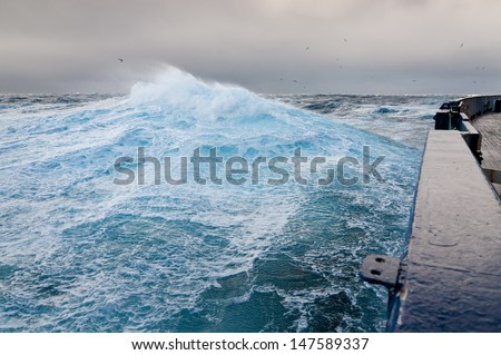 Stormy day at sea.