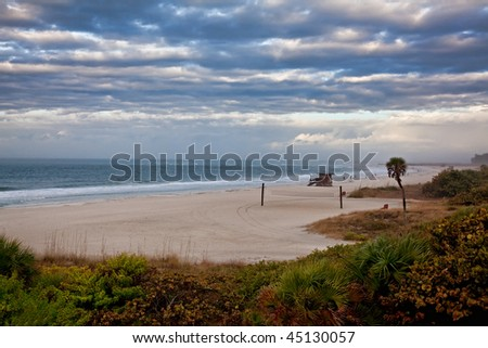 Stormy Day on Lido Beach in Sarasota, Florida