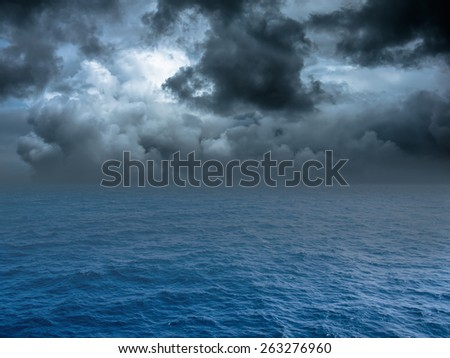 Stormy sea, abstract dark background