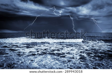 Stormy sea, abstract natural backgrounds for your design - stock photo