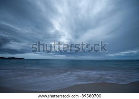 Stormy seascape. Koh Samui island, Thailand - stock photo