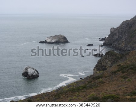 Stormy shoreline, California