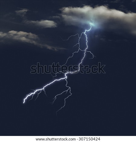 Stormy skies at the night, abstract natural backgrounds - stock photo