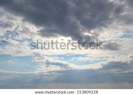 Stormy sky, may be used as background. - stock photo