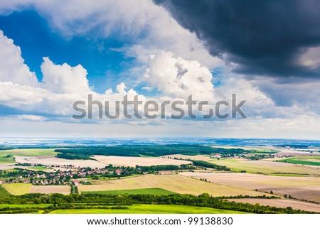 Stormy summer landscape - stock photo