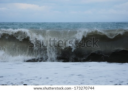 Stormy waves on the Black Sea
