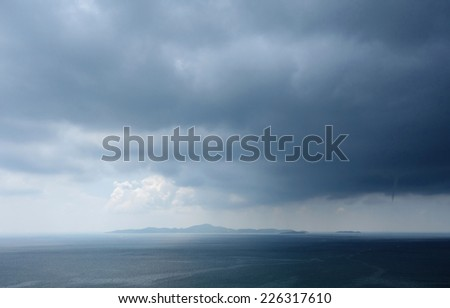 stormy weather   - stock photo