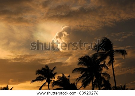 Stormy Weather, Ao Nang Beach, Thailand - stock photo
