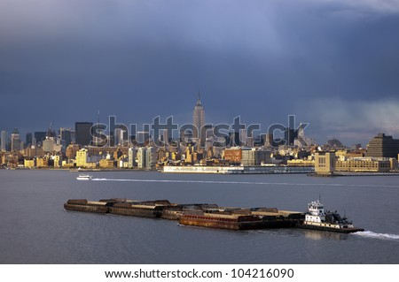 Stormy Weather over NYC - stock photo