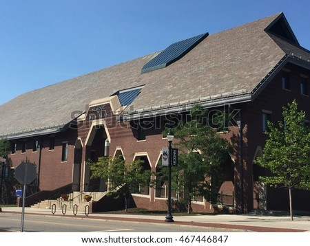 STORRS, CT - JUN 26: School of Business at University of Connecticut in Storrs, as seen on Jun 26, 2016. The university was founded in 1881.