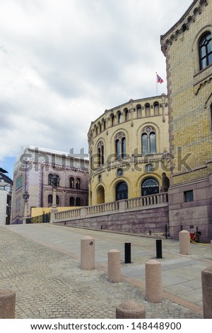 Stortinget, the seat of Norway's parliament, Oslo, Norway