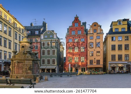 Stortorget is a small public square in Gamla Stan, the old town in central Stockholm, Sweden.
