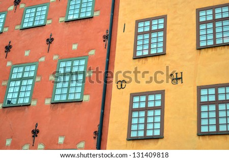 Stortorget place in Gamla stan - Stockholm - stock photo