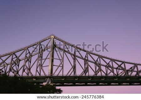 Purple Story Bridge Story Bridge at Night