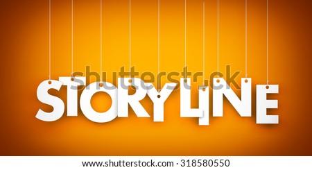 Storyline word - stock photo