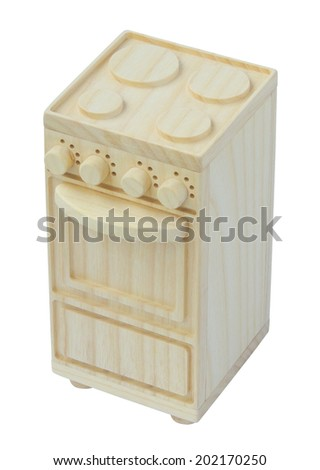 Stove wooden toy - stock photo