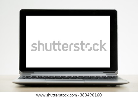 Straight on view of Laptop, Tablet hybrid