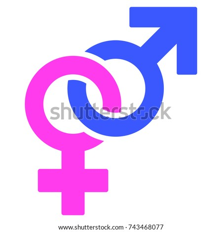 Straight Sex Symbol flat raster pictogram. An isolated icon on a white background.