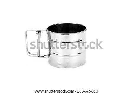 strainer isolated on white background