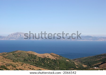 Strait of Gibraltar - stock photo