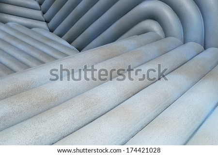 strange artificial landscape - stock photo
