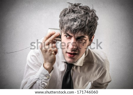 strange conversation - stock photo