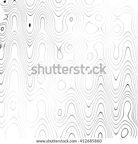 Strange curved black and white abstract background with black spots or stains. Very thin and delicate