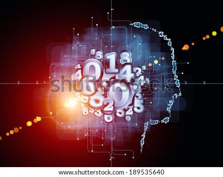 Strange Geometry series. Backdrop design of line drawing, math and geometry related elements to provide supporting composition for works on mathematics, science, education and  technology - stock photo