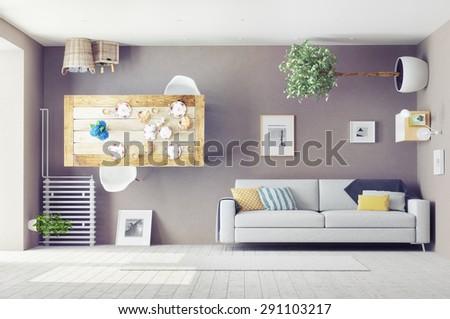 Weird stock photos royalty free images vectors for Weird interior design
