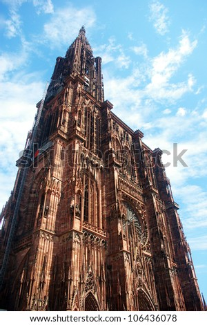 Strasbourg Cathedral - stock photo