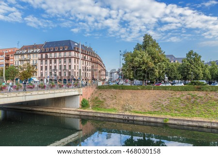 STRASBOURG, FRANCE - JUL 23, 2015: Beautiful view of the city