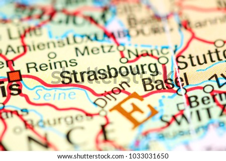Strasbourg France On Map Stock Photo Royalty Free - Strasbourg france map
