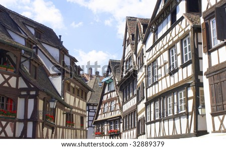 Strasbourg old buildings - stock photo