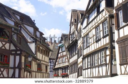 Strasbourg old buildings - stock photo