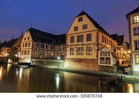 Strasbourg - old town architecture. Strasbourg, Alsace, France - stock photo
