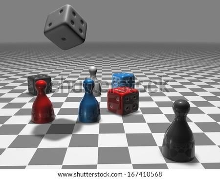 strategical thinking concept illustration - stock photo