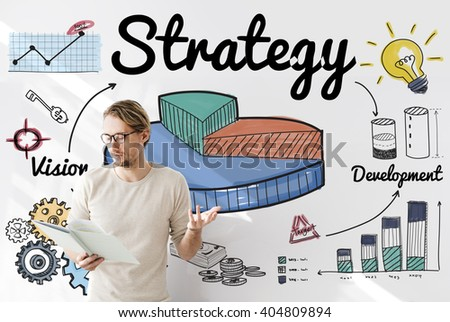 Strategy Business Chart Vision Development Concept - stock photo