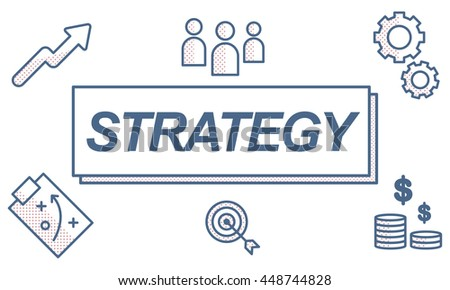 Strategy Business Collaboration Planning Graphic Concept - stock photo