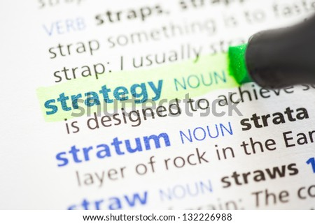 Strategy definition highlighted in green