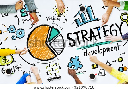 Strategy Development Goal Marketing Vision Planning Business Concept - stock photo