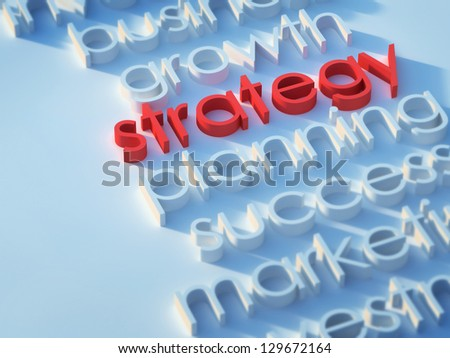 Strategy keyword. - stock photo