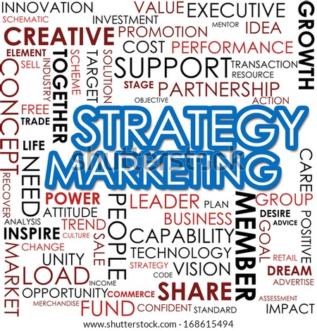 Strategy marketing word cloud - stock photo