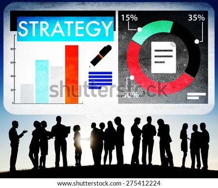 Strategy Plan Marketing Data Ideas Innovation Concept - stock photo